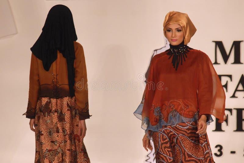 Мусульманский фестиваль 2014 моды стоковое фото rf