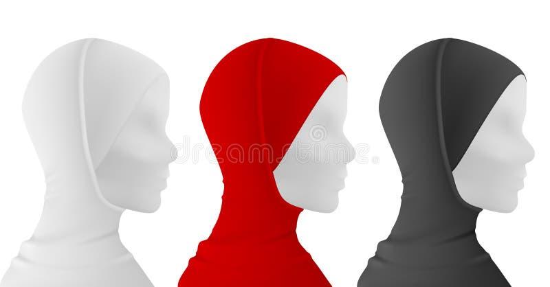 Мусульманское hijab иллюстрация вектора