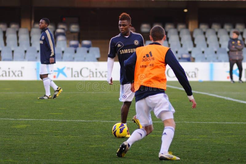 Мусульманство Feruz играет с командой молодости Челси F.C. стоковое фото