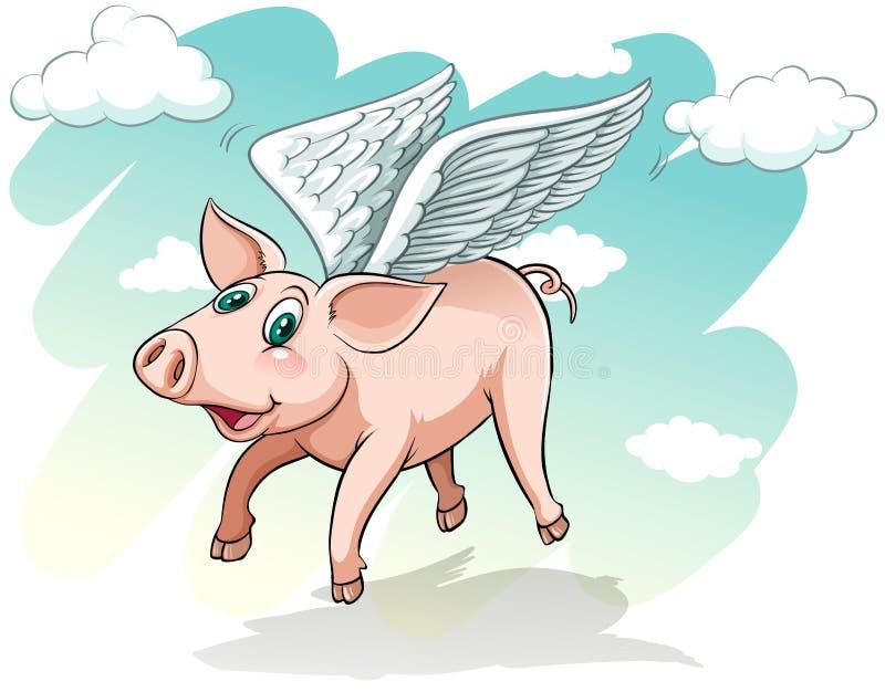 муха летая счастливые свиньи свиньи бесплатная иллюстрация