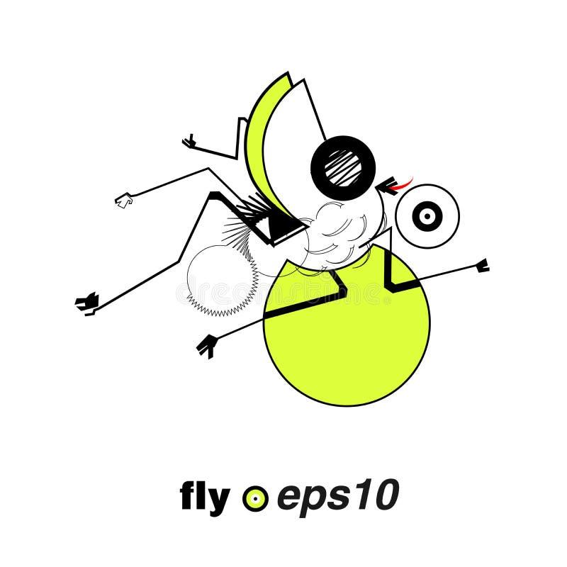 Муха насекомого стоковое изображение