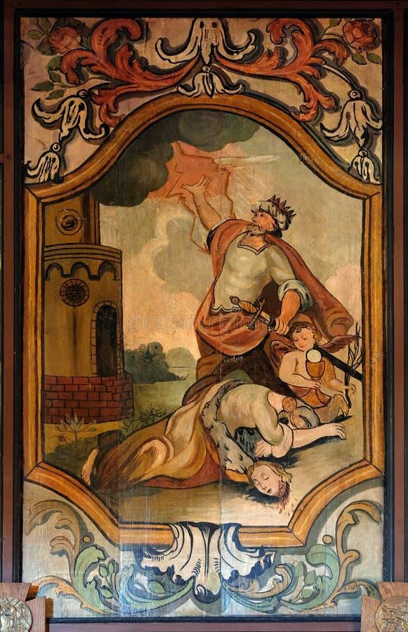 Мученичество и смерть St Барбары стоковое изображение