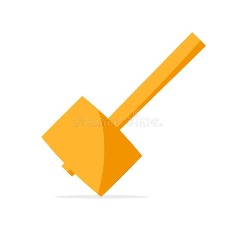 Мушкел конструкции деревянный иллюстрация вектора