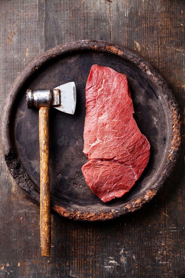 Мушкел сырого мяса и стейка стоковое фото rf