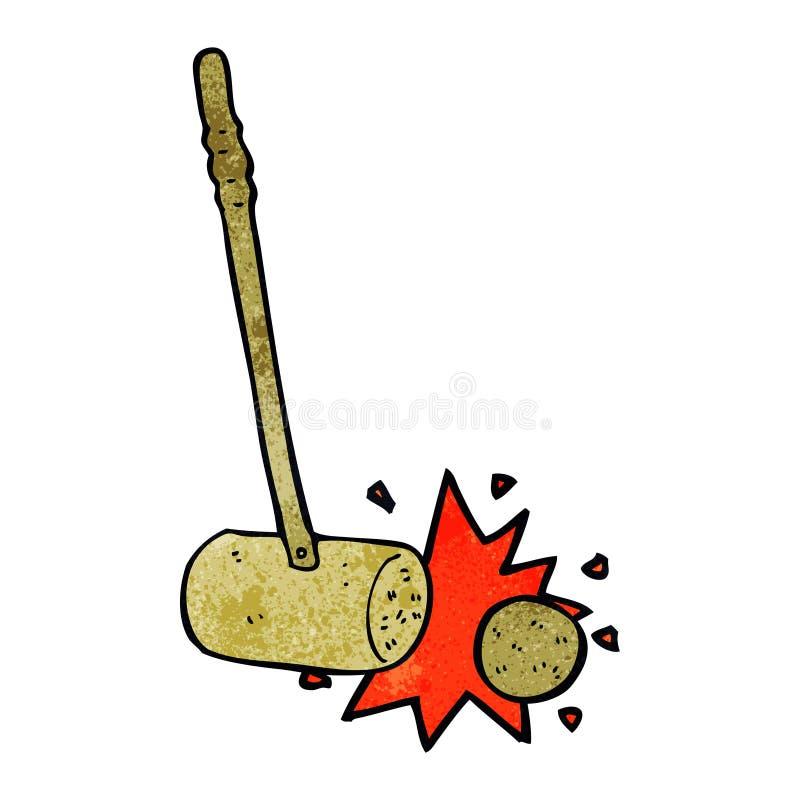 мушкел ударяя шарик бесплатная иллюстрация