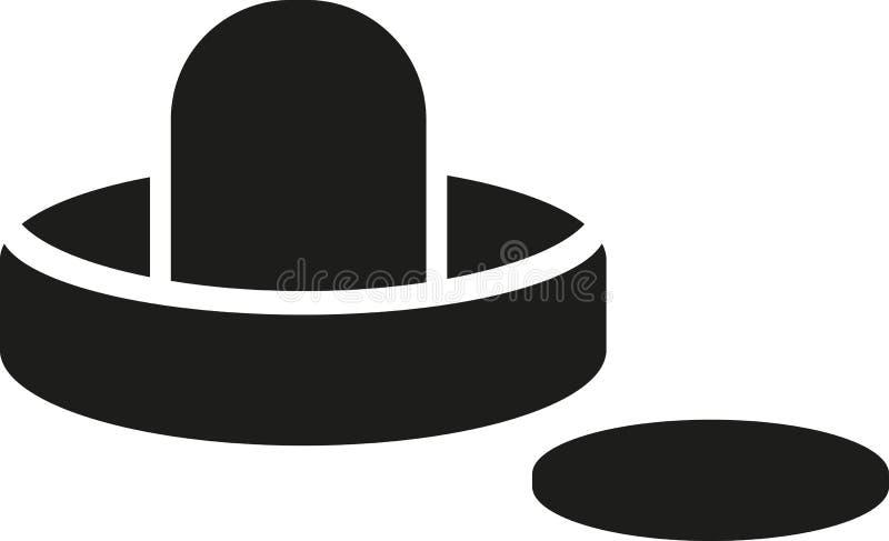 Мушкел хоккея воздуха с шайбой иллюстрация штока