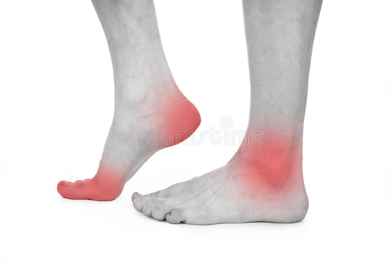 Мыжская нога, пятка, ноги стоковая фотография rf