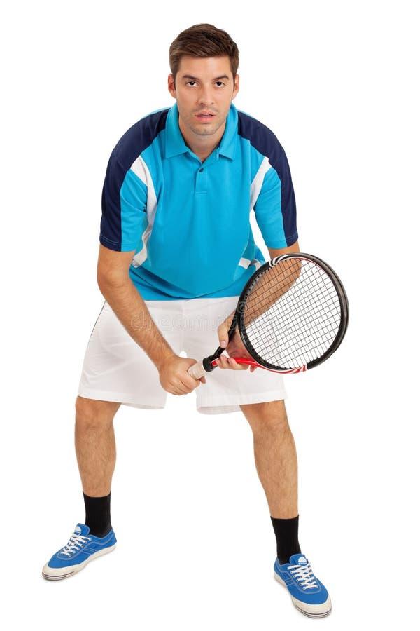 мыжские детеныши тенниса игрока стоковые изображения