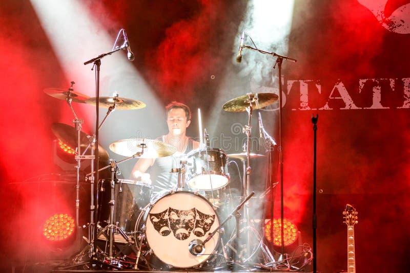 Мыжской барабанщик стоковое изображение rf