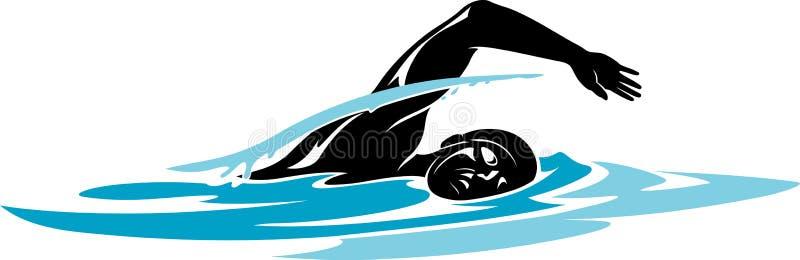 мыжской пловец иллюстрация штока