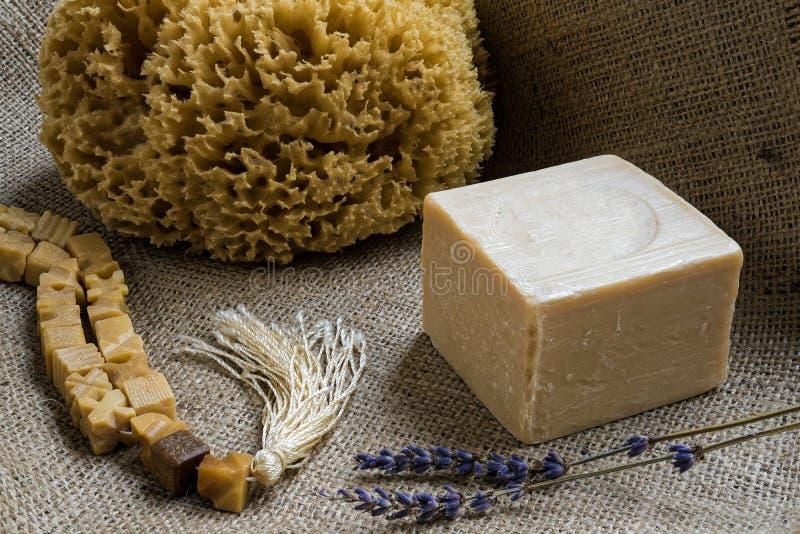 Мыла оливкового масла стоковые фотографии rf