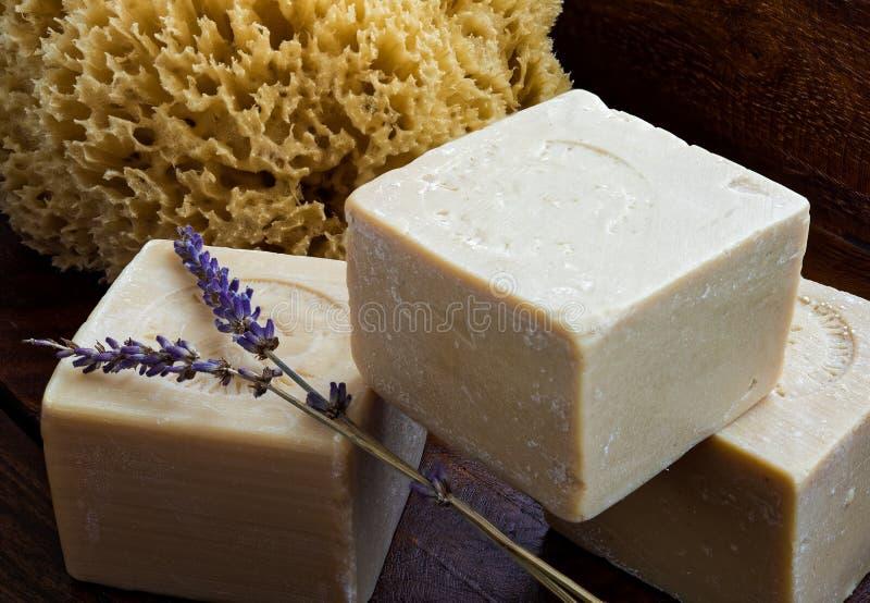 Мыла оливкового масла стоковая фотография