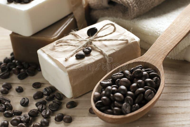 Мыло кофе спы стоковое фото