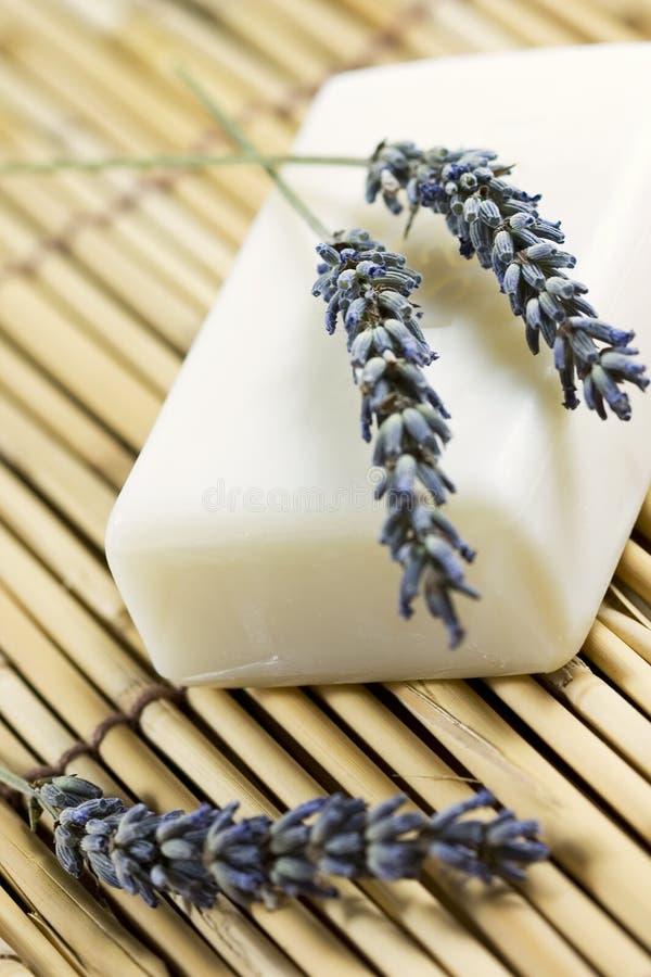 Download мыло лаванды стоковое изображение. изображение насчитывающей домодельно - 6869139