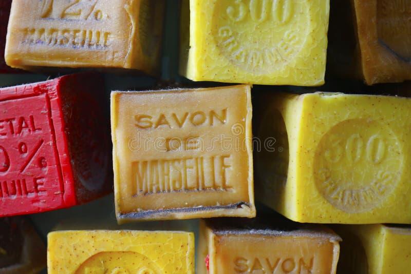 Мыло Марселя, традиционное французское стоковые изображения