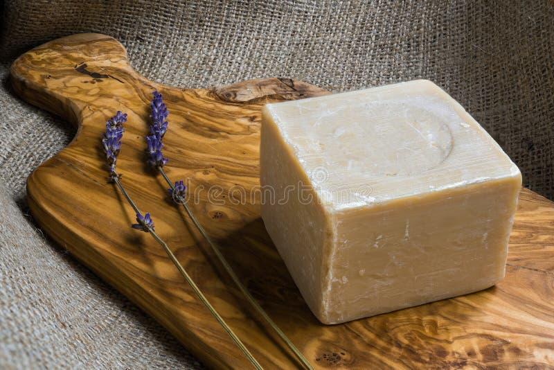 Мыло оливкового масла стоковое фото