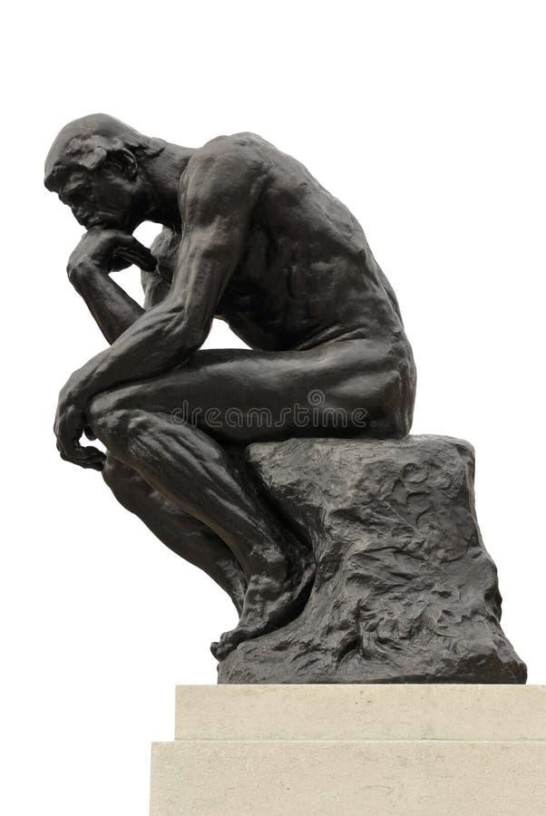 мыслитель стоковое изображение rf