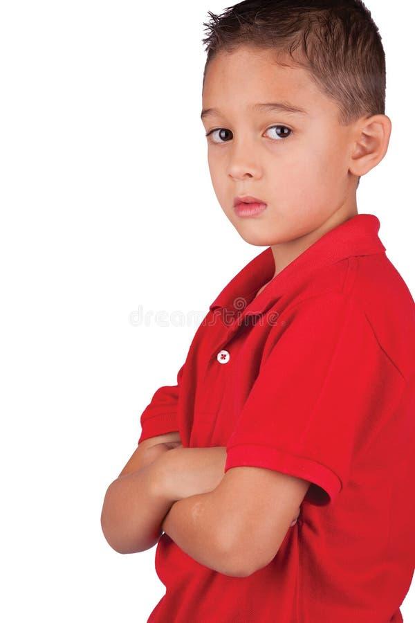 мысль мальчика серьезная стоковое изображение rf