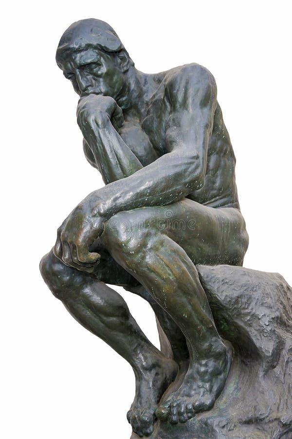 Мыслитель - одна из самых известных скульптур Auguste Rodin стоковое фото rf