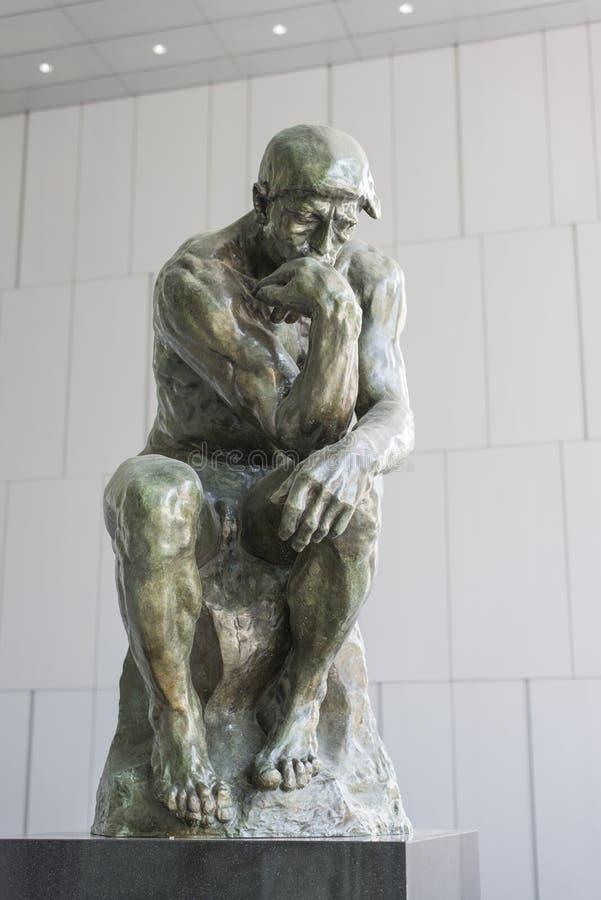 Мыслитель Rodin стоковая фотография rf