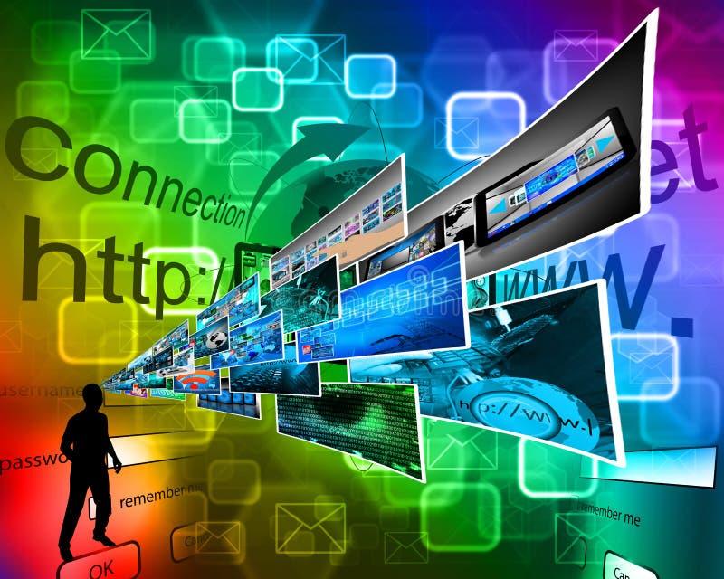 Мысли высокой технологии бесплатная иллюстрация