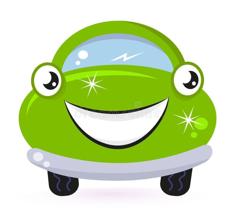 мытье зеленого цвета eco автомобиля иллюстрация штока