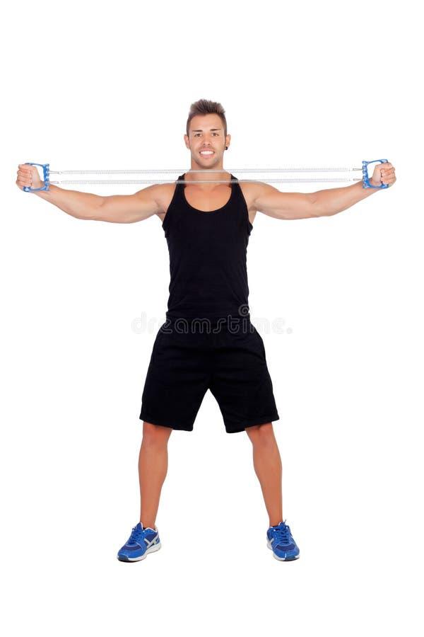Download Мышечная тренировка человека Стоковое Фото - изображение насчитывающей эластично, athirst: 33733440