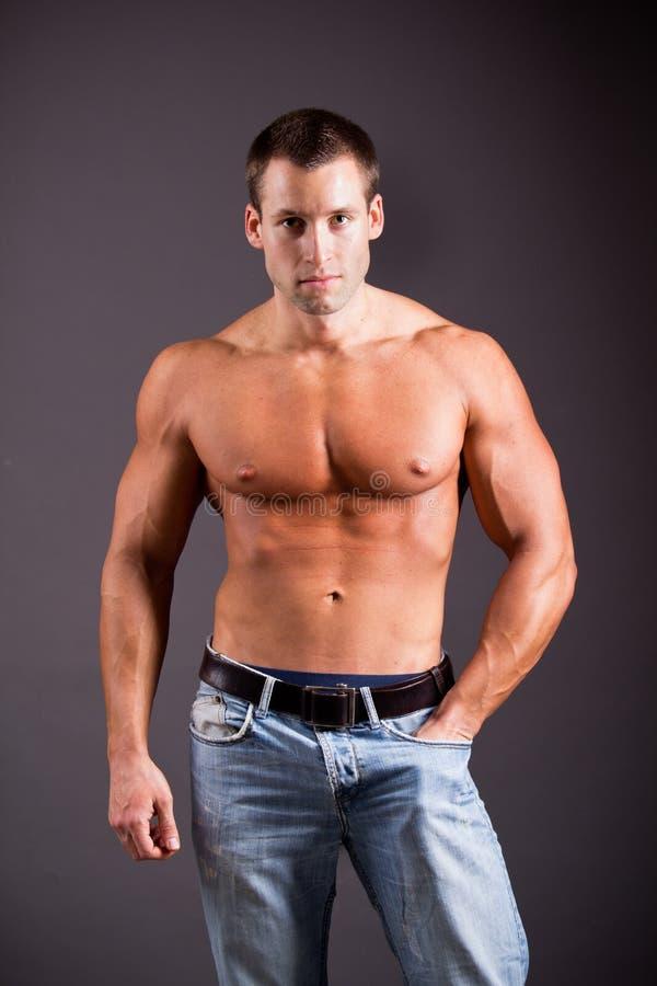 Мышечный человек стоковые фотографии rf