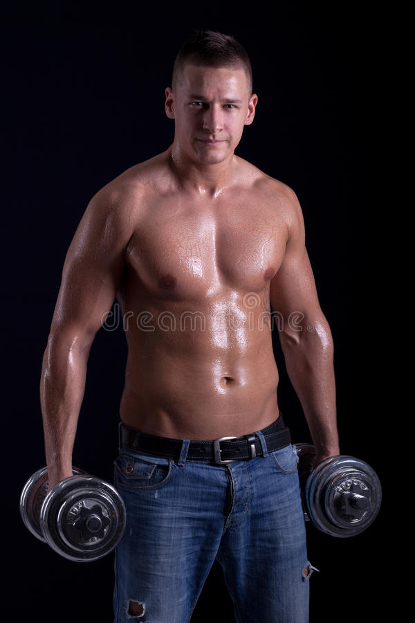 Мышечный человек стоковая фотография