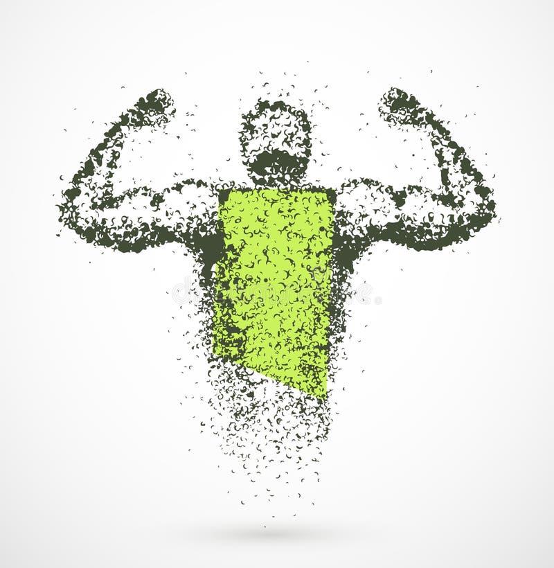 Мышечный человек иллюстрация штока
