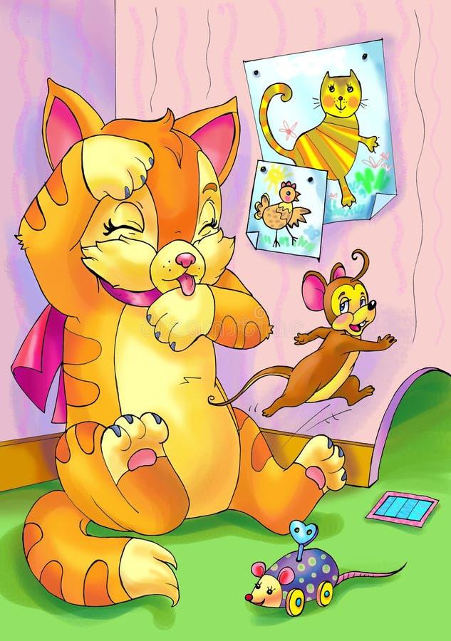 мыши кота бесплатная иллюстрация