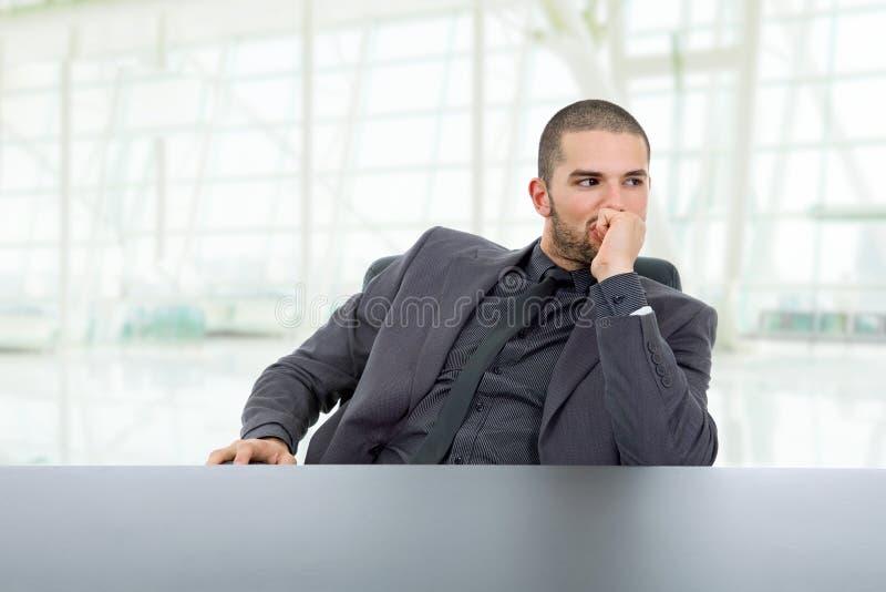 мышление бизнесмена стоковые фото