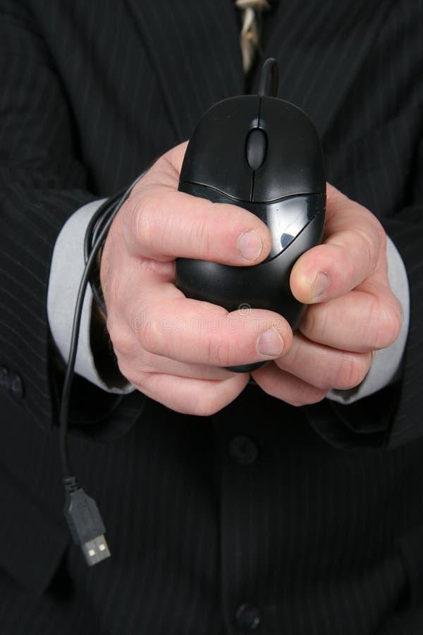 мышь бизнесмена связанная вверх стоковые фотографии rf