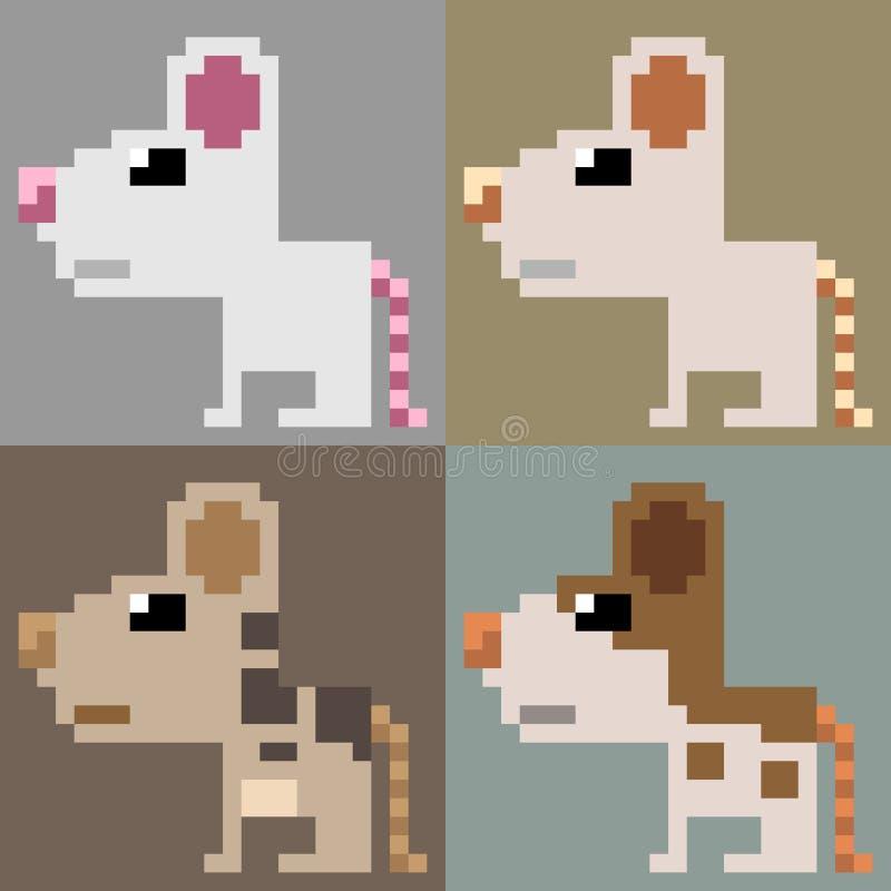 Мышь искусства пиксела иллюстрации стоковое изображение