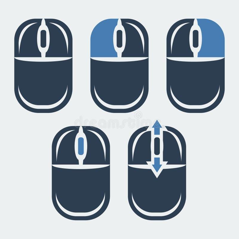 Мышь и Сomputer индикация кнопок иллюстрация штока