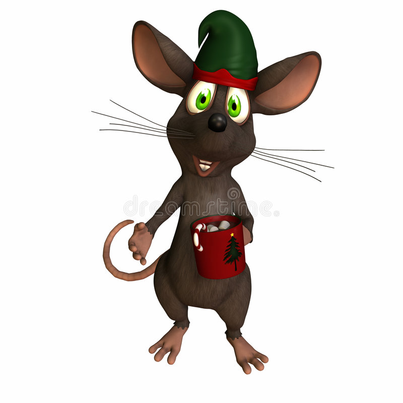 мышь какао иллюстрация вектора