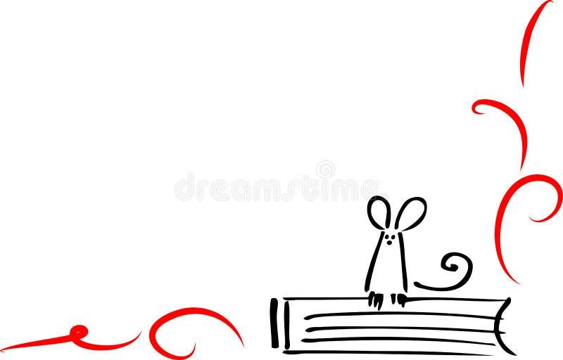 мышь книги бесплатная иллюстрация