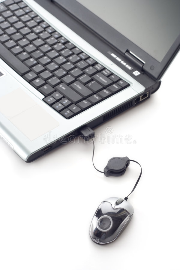 мышь компьтер-книжки компьютера стоковое изображение