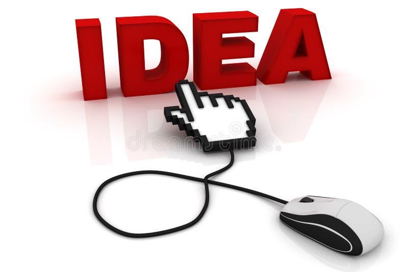 Мышь компьютера и идея слова иллюстрация вектора