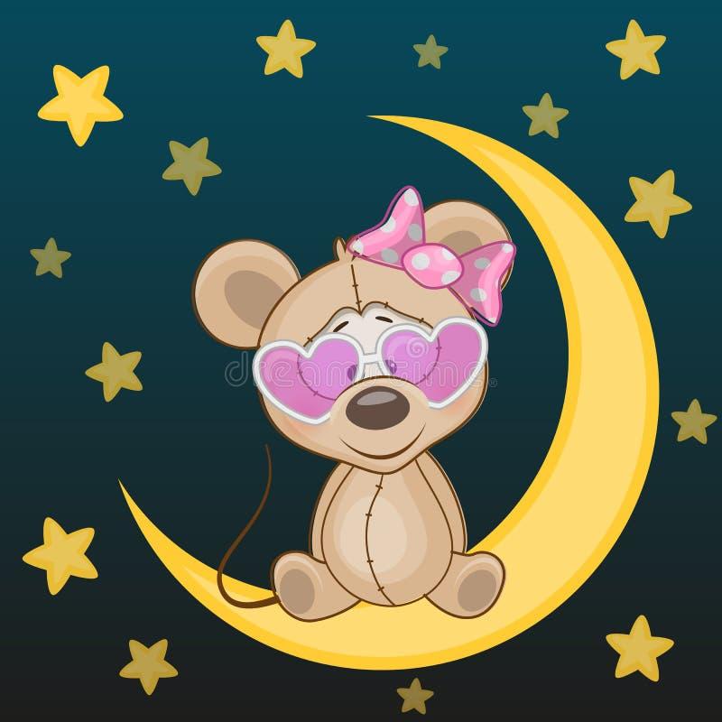 мышь на луне рисунок