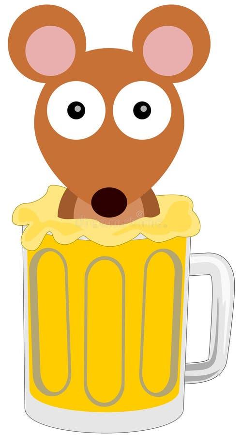 Мышь пива бесплатная иллюстрация