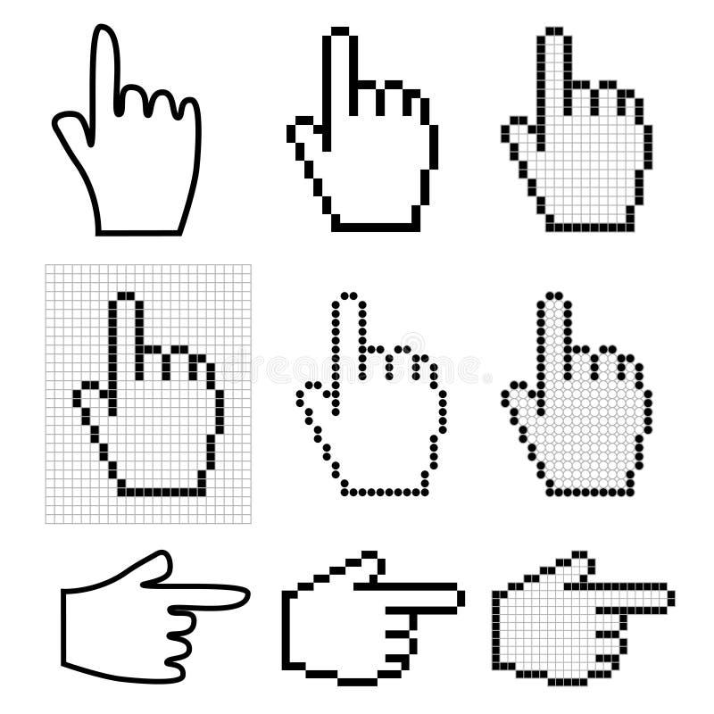 мышь руки стрелок иллюстрация вектора