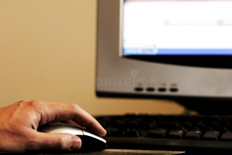 мышь руки 2 компьютеров стоковое изображение rf