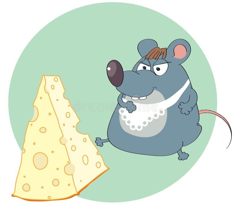 мышь сыра иллюстрация вектора