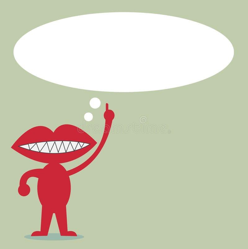 Мышь с цитатой речи пузыря для текста иллюстрация штока