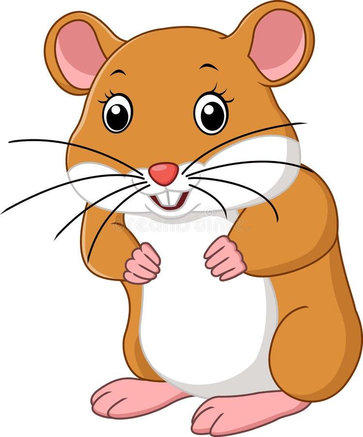 мышь шаржа милая иллюстрация вектора
