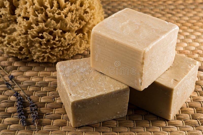 Мыла оливкового масла стоковое изображение