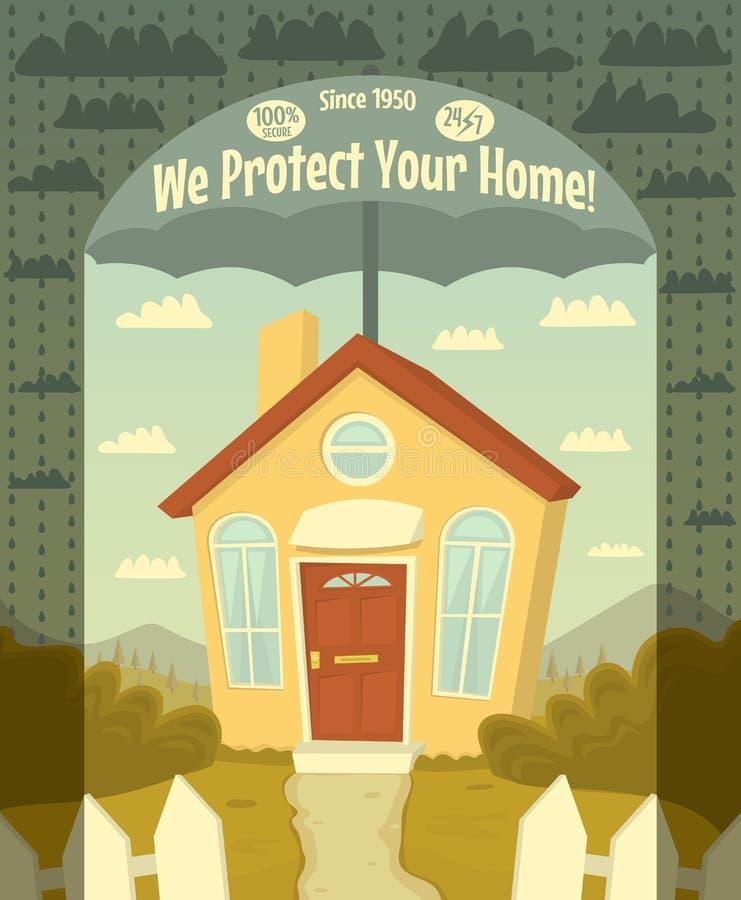 Мы защищаем ваш дом бесплатная иллюстрация