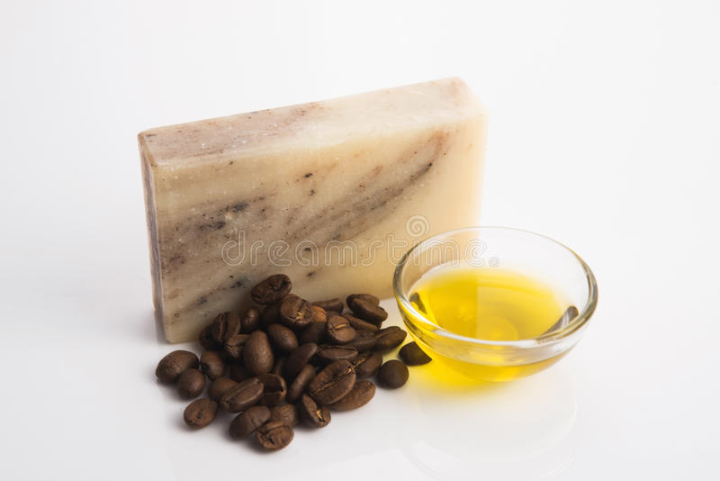Мыло кофе стоковое изображение rf