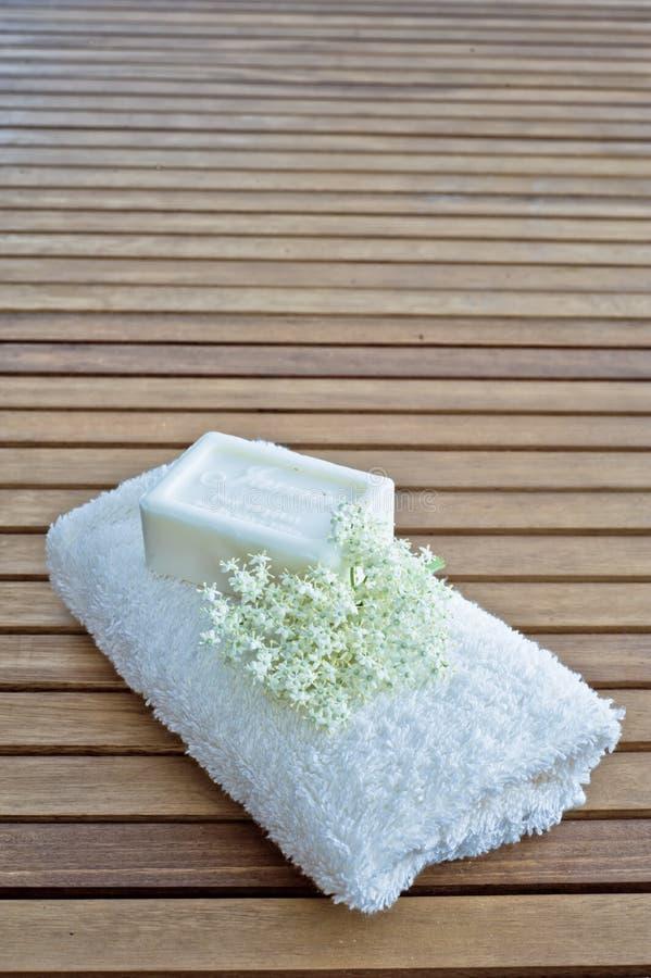 Мыло цветка жасмина стоковое изображение